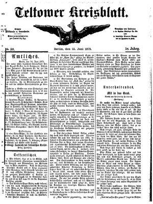 Teltower Kreisblatt vom 21.06.1873