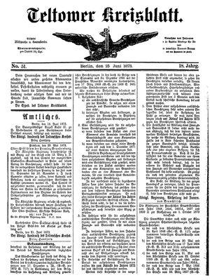 Teltower Kreisblatt on Jun 25, 1873