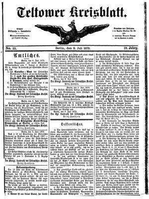 Teltower Kreisblatt vom 09.07.1873