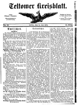 Teltower Kreisblatt on Jul 12, 1873