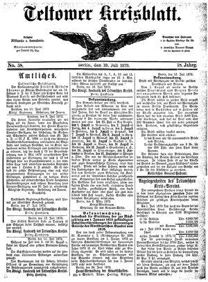 Teltower Kreisblatt vom 19.07.1873
