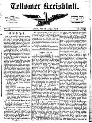 Teltower Kreisblatt vom 16.08.1873
