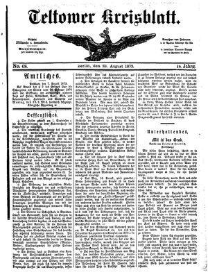 Teltower Kreisblatt vom 23.08.1873
