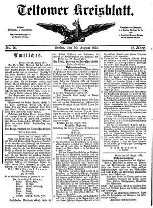 Teltower Kreisblatt vom 30.08.1873