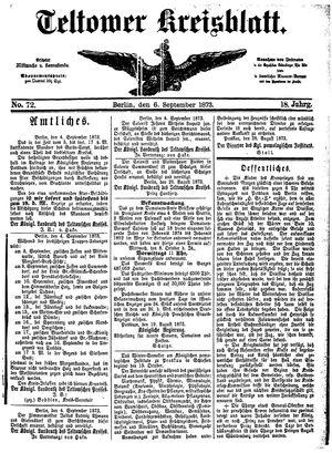 Teltower Kreisblatt vom 06.09.1873