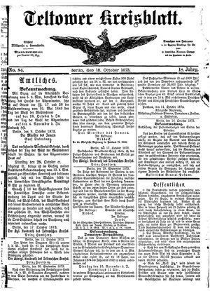 Teltower Kreisblatt vom 18.10.1873