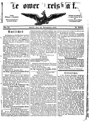 Teltower Kreisblatt on Nov 26, 1873