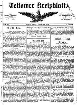 Teltower Kreisblatt vom 06.12.1873
