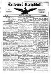 Teltower Kreisblatt (17.03.1875)