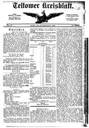 Teltower Kreisblatt (22.09.1875)