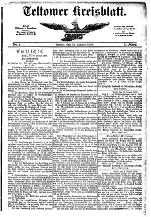 Teltower Kreisblatt vom 12.01.1876