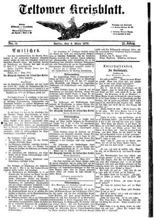 Teltower Kreisblatt on Mar 4, 1876