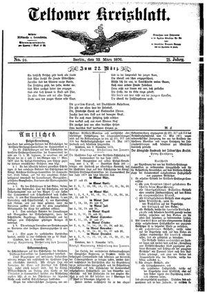 Teltower Kreisblatt on Mar 22, 1876