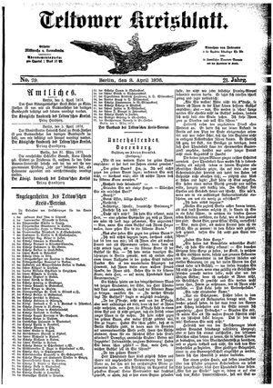 Teltower Kreisblatt vom 08.04.1876