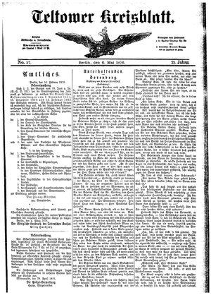 Teltower Kreisblatt vom 06.05.1876
