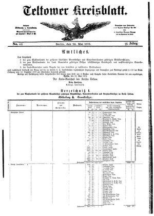 Teltower Kreisblatt on May 24, 1876