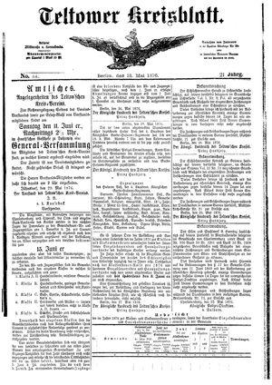 Teltower Kreisblatt vom 31.05.1876