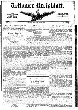 Teltower Kreisblatt on Jun 28, 1876