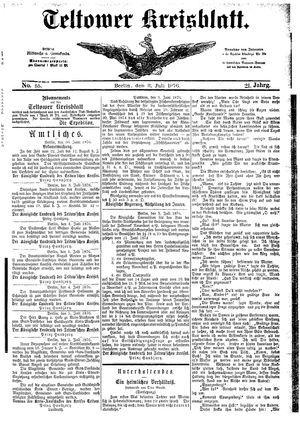 Teltower Kreisblatt vom 08.07.1876