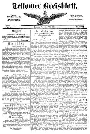 Teltower Kreisblatt vom 19.07.1876