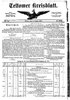Teltower Kreisblatt vom 02.08.1876