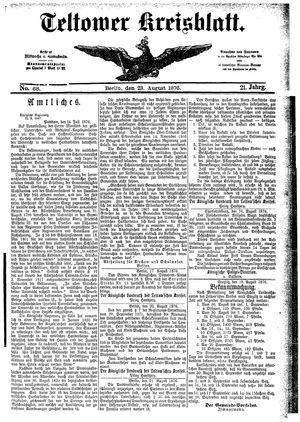 Teltower Kreisblatt vom 23.08.1876