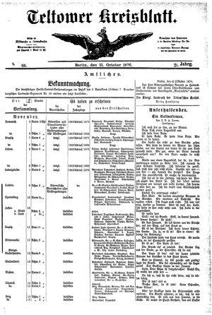 Teltower Kreisblatt vom 21.10.1876