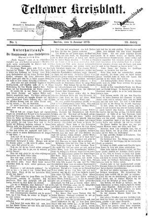 Teltower Kreisblatt vom 02.01.1878