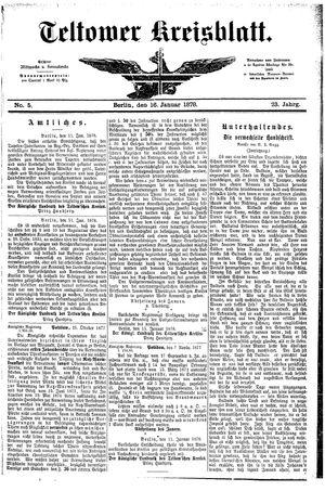 Teltower Kreisblatt vom 16.01.1878