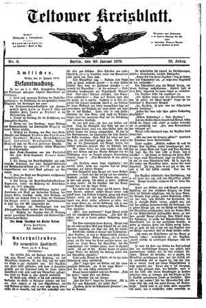 Teltower Kreisblatt vom 30.01.1878