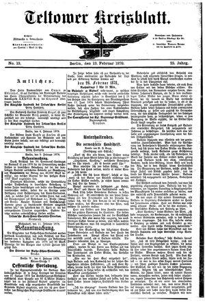 Teltower Kreisblatt vom 13.02.1878