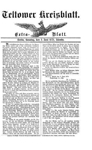 Teltower Kreisblatt vom 02.06.1878