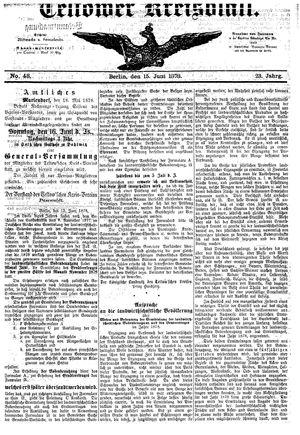 Teltower Kreisblatt vom 15.06.1878