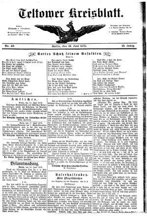 Teltower Kreisblatt vom 19.06.1878