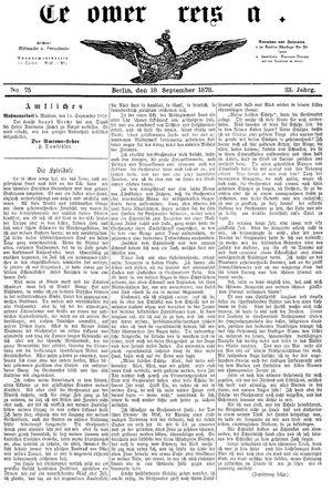 Teltower Kreisblatt vom 18.09.1878