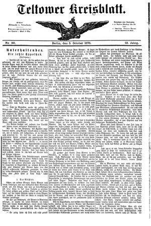 Teltower Kreisblatt vom 05.10.1878