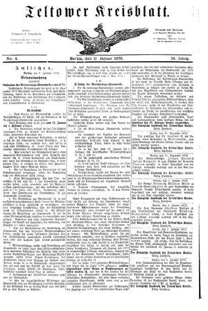 Teltower Kreisblatt on Jan 11, 1879