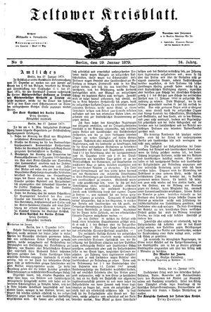 Teltower Kreisblatt vom 29.01.1879