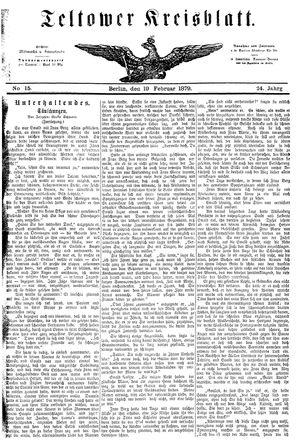 Teltower Kreisblatt on Feb 19, 1879