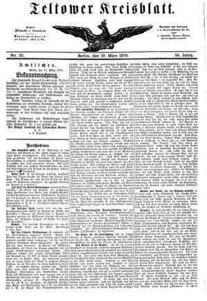 Teltower Kreisblatt vom 19.03.1879