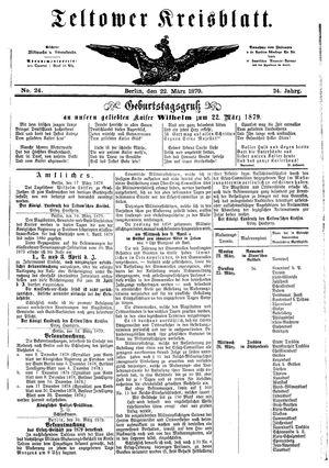 Teltower Kreisblatt vom 22.03.1879