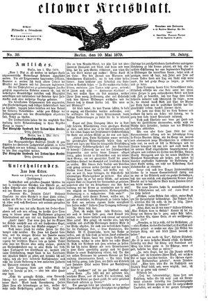 Teltower Kreisblatt vom 10.05.1879