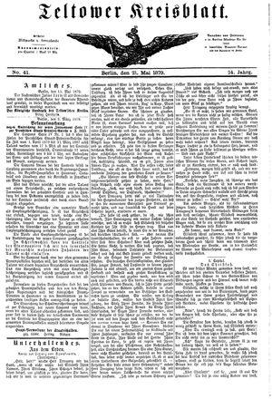 Teltower Kreisblatt vom 21.05.1879