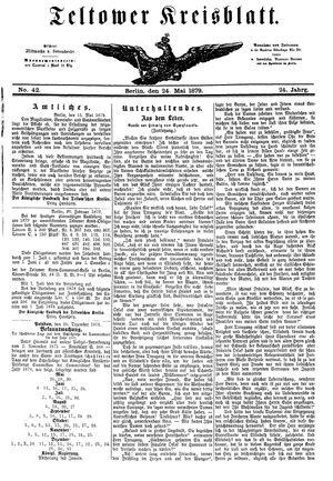 Teltower Kreisblatt vom 24.05.1879
