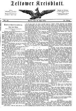 Teltower Kreisblatt vom 28.05.1879