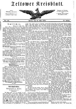 Teltower Kreisblatt vom 31.05.1879