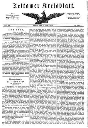 Teltower Kreisblatt vom 04.06.1879
