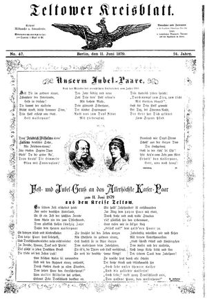 Teltower Kreisblatt vom 11.06.1879