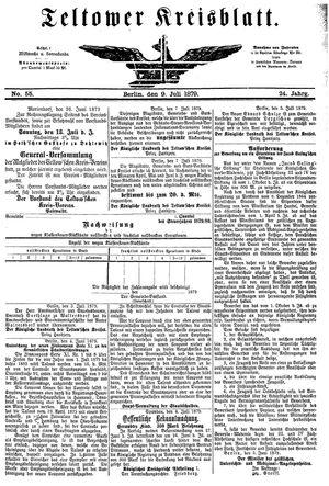 Teltower Kreisblatt vom 09.07.1879
