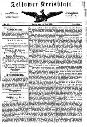 Teltower Kreisblatt vom 12.07.1879